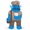 blue mail carrier